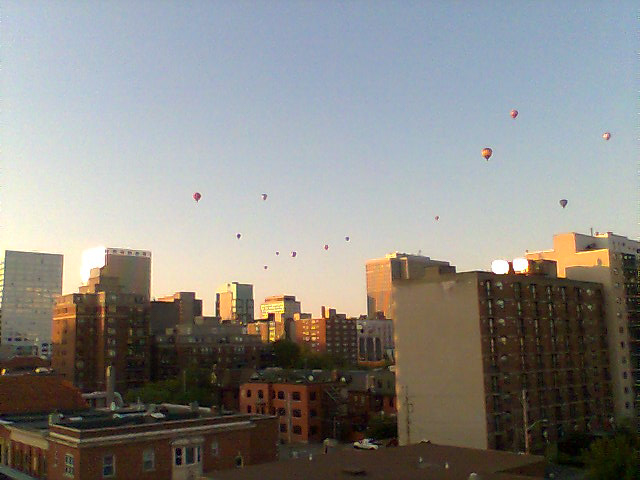 Gatineau Hot Air Balloon Festival flight over Centretown Ottawa.