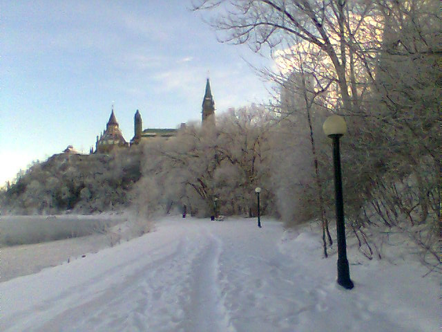 Ottawa River walk below Parliament Hill, Ottawa.
