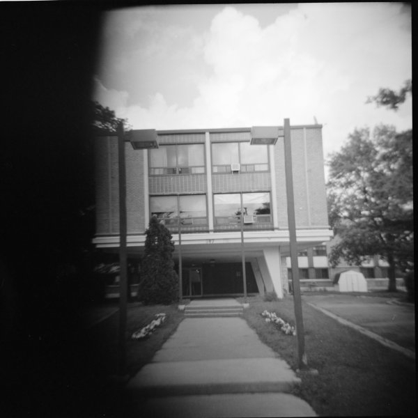 Woca medium format toy camera, Kodak 400TX, circa 2001.